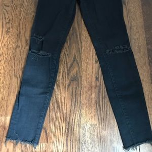 J Brand Cropped Skinny Ripped Jeans
